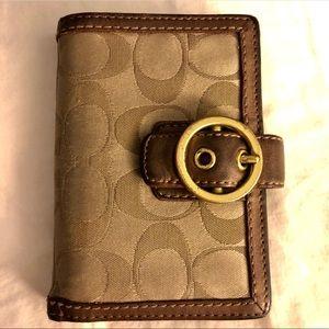 Vintage Coach Monogram Wallet